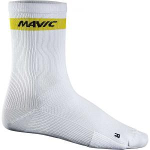 マヴィック Mavic メンズ ソックス インナー・下着 Cosmic High Cycling Socks White|fermart3-store