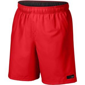 オークリー メンズ 海パン 水着・ビーチウェア Ace Volley 18 Boardshorts Red Line|fermart3-store