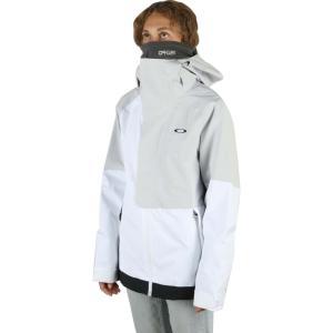 オークリー Oakley レディース スキー・スノーボード シェルジャケット ジャケット アウター camellia shell snowboard jacket White/Grey|fermart3-store