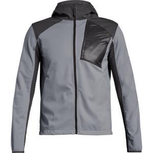 アンダーアーマー Under Armour メンズ アウター スキー・スノーボード Traversa Hooded Snowboard Jacket 2019 Steal/Formula Orange/Charcoal|fermart3-store