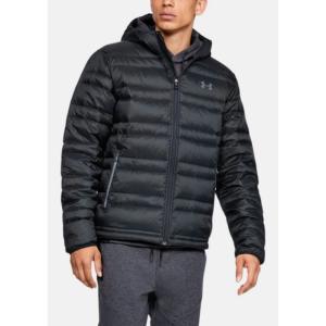 アンダーアーマー Under Armour メンズ ダウン・中綿ジャケット フード アウター Armour Down Hooded Jacket Black/Pitch Grey fermart3-store