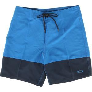 オークリー Oakley メンズ 海パン 水着・ビーチウェア Color Block 18 Boardshorts Snorkel Blue|fermart3-store