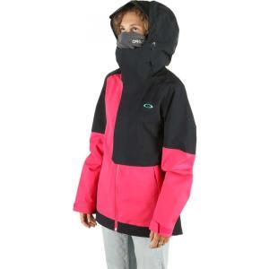 オークリー Oakley レディース スキー・スノーボード シェルジャケット ジャケット アウター camellia shell snowboard jacket Black/Rubine|fermart3-store