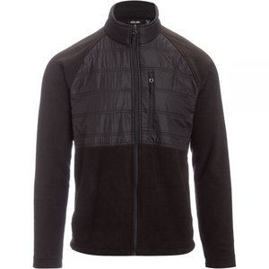 マウンテンクラブ Mountain Club メンズ フリース トップス Fleece Jacket with Overlay Black|fermart3-store