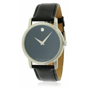 モバード メンズ 腕時計 Movado Museum Leather Watch|fermart3-store