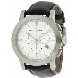 バーバリー Burberry メンズ 腕時計 アクセサリー Burberry Leather Chronograph Mens Watch|fermart3-store