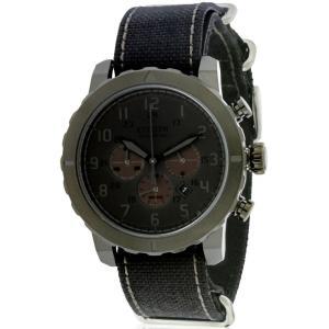 シチズン メンズ 腕時計 Citizen Eco-Drive Military Chronograph All Black Nylon Watch|fermart3-store