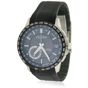 シチズン メンズ 腕時計 Citizen Eco-Drive Satellite Wave Silicone Watch|fermart3-store