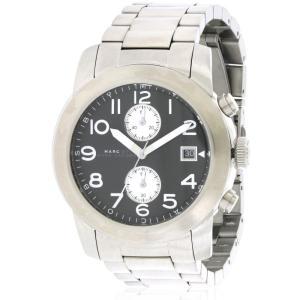 マーク ジェイコブス メンズ 腕時計 Marc by Marc Jacobs Larry Chronograph Stainless Steel Watch|fermart3-store
