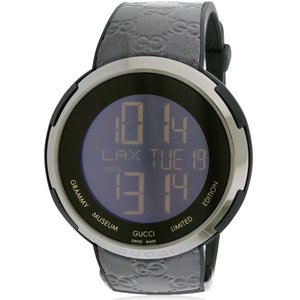 グッチ メンズ 腕時計 Gucci I-Gucci Leather Digital Grammy Museum Limited Edition Watch fermart3-store