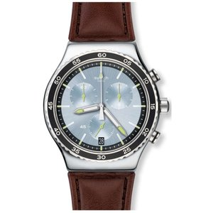 スウォッチ メンズ 腕時計 Swatch STOCK XCHANGE Leather Watch|fermart3-store