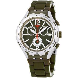 スウォッチ メンズ 腕時計 Swatch Green Attack Watch|fermart3-store