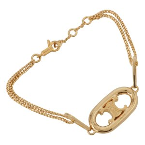 【即納】セリーヌ Celine ユニセックス ブレスレット ジュエリー・アクセサリー Gold Bracelet Triomphe 46S906BRA Gold ロゴ トリオンフ fermart3-store