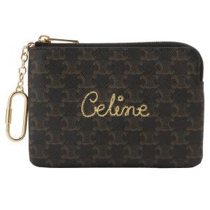 【即納】セリーヌ Celine ユニセックス 財布 Coin&Card Pouch 10C662CCG BLACK コインケース カードポーチ パスケース マカダム柄 fermart3-store