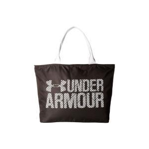 【即納】アンダーアーマー Under Amour レディース トートバッグ バッグ Big Wordmark Tote 2.0 Black/White/White|fermart3-store