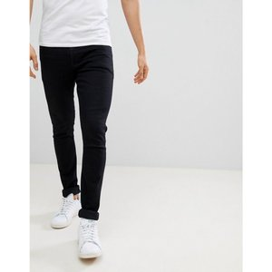 エイソス メンズ ジーンズ ボトムス ASOS Super Spray On Jeans In Black Black|fermart