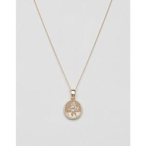 チェインド アンド エイブル メンズ ネックレス ジュエリー・アクセサリー Chained & Able St. Christopher Mini Medallion Necklace In Gold Gold|fermart