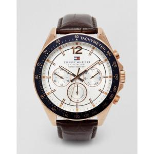 トミー ヒルフィガー メンズ 腕時計 Luke Leather Strap Watch 1791118 Brown fermart