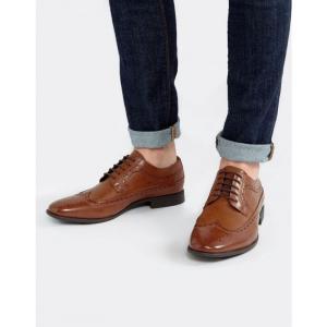 エイソス ASOS DESIGN メンズ 革靴・ビジネスシューズ シューズ・靴 brogue shoes in tan faux leather Tan|fermart