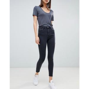 エイソス レディース ジーンズ ボトムス ASOS RIDLEY Skinny Jeans in Washed Black Black|fermart