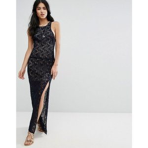 フリーピープル レディース ワンピース トップス Free People Lace Column Maxi Party Dress Deep indigo|fermart