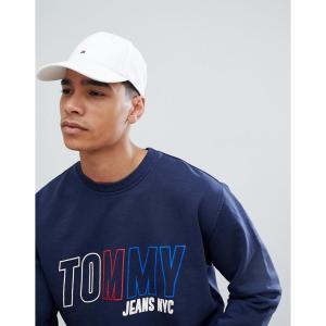 トミー ヒルフィガー メンズ キャップ 帽子 Classic Flag Baseball Cap in White White|fermart