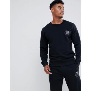 ディーゼル メンズ スウェット・トレーナー トップス Sweatshirt With Logo In Black Black|fermart