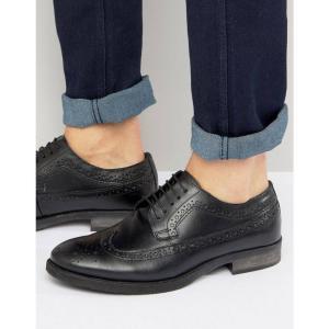 シルバー ストリート メンズ 革靴・ビジネスシューズ シューズ・靴 Brogues In Black Black|fermart