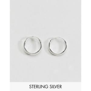 エイソス ASOS DESIGN メンズ イヤリング・ピアス ジュエリー・アクセサリー sterling silver 12mm hoop earrings Silver|fermart