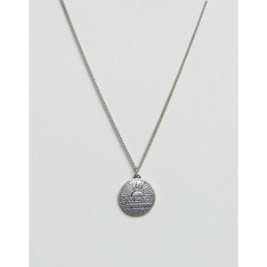 クラシックセブンティーセブン Classics 77 メンズ ネックレス ジュエリー・アクセサリー disc pendant necklace in antique silver Silver fermart