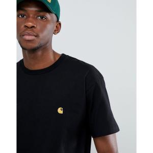 カーハート Carhartt WIP メンズ Tシャツ トップス Chase fit t-shirt in black Black|fermart