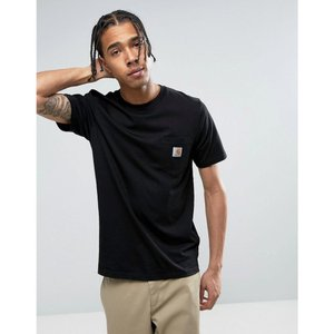 カーハート メンズ Tシャツ トップス Pocket T-Shirt In Regular Fit Black|fermart