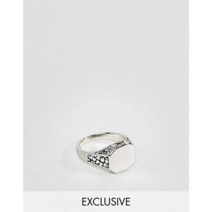 デザインBロンドン DesignB London メンズ 指輪・リング ジュエリー・アクセサリー DesignB burnished silver signet pinkie ring exclusive to asos Silver fermart