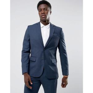 マンゴ Mango メンズ スーツ・ジャケット アウター man slim fit check suit jacket in navy ネイビー|fermart