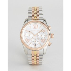 マイケル コース Michael Kors メンズ 腕時計 MK5735 Lexington bracelet watch in mixed metal Silver|fermart