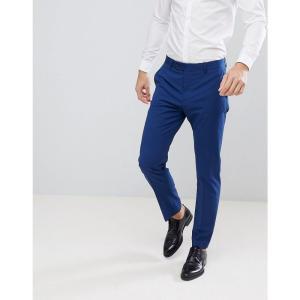 マンゴ Mango メンズ スラックス ボトムス・パンツ man slim fit suit trousers in navy ネイビー|fermart