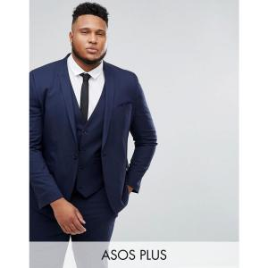 エイソス ASOS DESIGN メンズ スーツ・ジャケット アウター Plus skinny suit jacket in navy Navy fermart