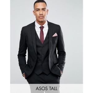 エイソス ASOS DESIGN メンズ スーツ・ジャケット アウター Tall skinny suit jacket in black ブラック fermart
