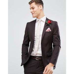 フレンチコネクション French Connection メンズ スーツ・ジャケット アウター Skinny Wedding Suit Jacket In Dark Burgundy バーガンディ fermart