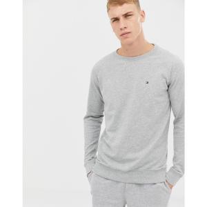 トミー ヒルフィガー メンズ スウェット・トレーナー トップス Tommy Hilfiger Flag Logo Sweatshirt in Grey Marl Grey heather fermart