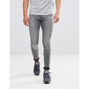 エイソス メンズ ジーンズ・デニム ボトムス・パンツ ASOS Extreme Super Skinny Jeans Light Wash Grey Grey|fermart