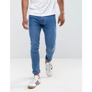 マンゴ Mango メンズ ジーンズ・デニム ボトムス・パンツ man skinny jeans in mid wash ブルー|fermart