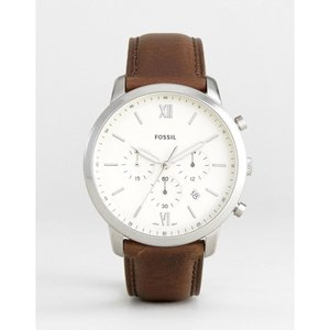フォッシル Fossil メンズ 腕時計 FS5380 Neutra chronograph leather watch in brown Brown|fermart
