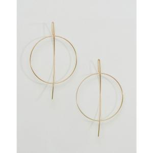 エイソス レディース イヤリング・ピアス ジュエリー・アクセサリー Fine Open Hoop Through Earrings Gold|fermart