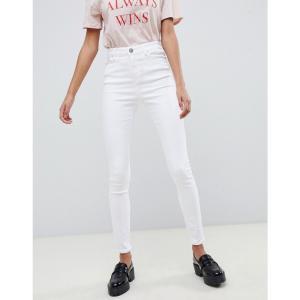 エイソス レディース ジーンズ・デニム ボトムス・パンツ ASOS RIDLEY High Waist Skinny Jeans In Optic White Optic white|fermart