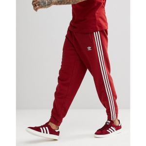 アディダス メンズ ジョガーパンツ ボトムス・パンツ adicolor 3-Stripe Joggers In Red CW2428 Red|fermart