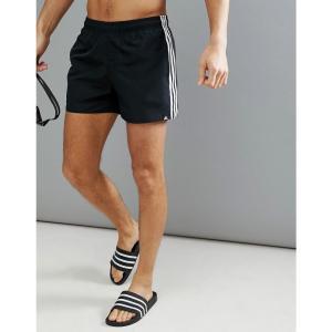 アディダス メンズ 海パン 水着・ビーチウェア adidas Swim Shorts With Stripes In Black CV5137 Black fermart