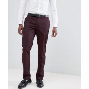 マンゴ Mango メンズ スラックス ボトムス・パンツ man suit trousers in burgundy レッド|fermart