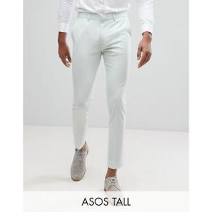 エイソス メンズ スラックス ボトムス・パンツ TALL Wedding Super Skinny Cropped Smart Trousers In Mint Mint|fermart