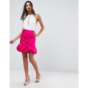 エイソス ASOS DESIGN レディース ミニスカート スカート high waisted mini puffball skirt ピンク|fermart